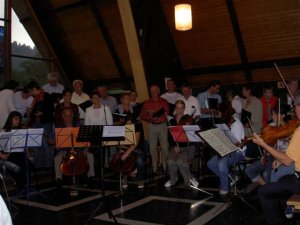 La messe du samedi 21 juillet  2007 à l'Eglise des Diablerets