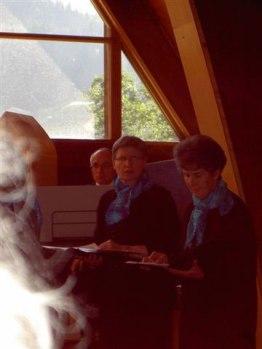 Jean-Charles Bonvin à l'orgue avec Elisabeth Bruchez et Marcelle Salamin (22.07.2007)