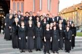 Photo-souvenir devant la Basilique rouge à Neuchâtel avant notre concert du 17 mars 2012